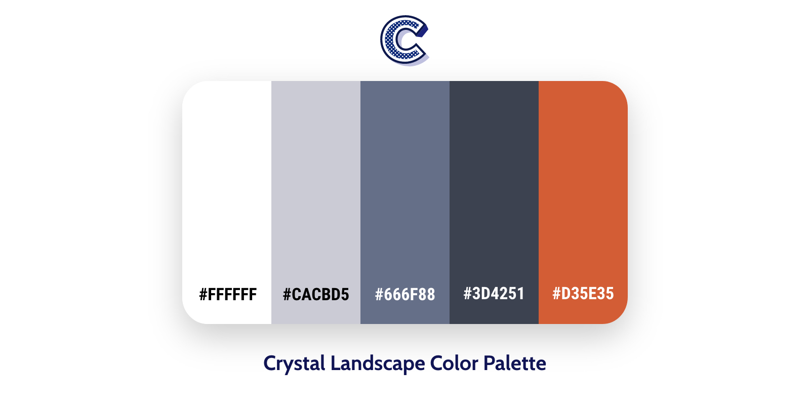 the featured image of crystal landscape color palette