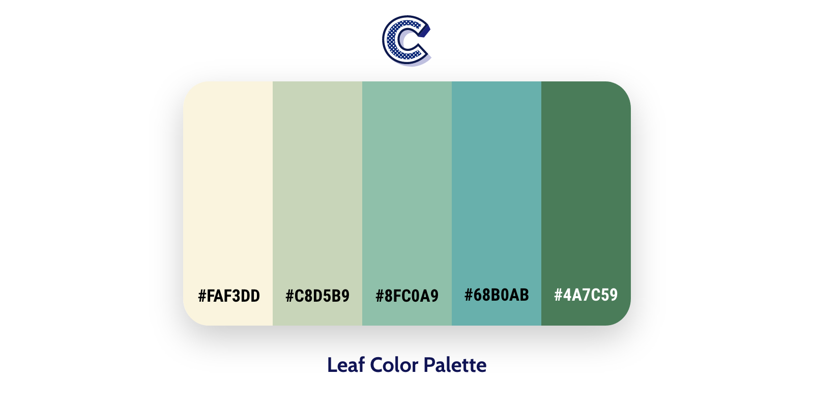 the featured image of leaf color palette