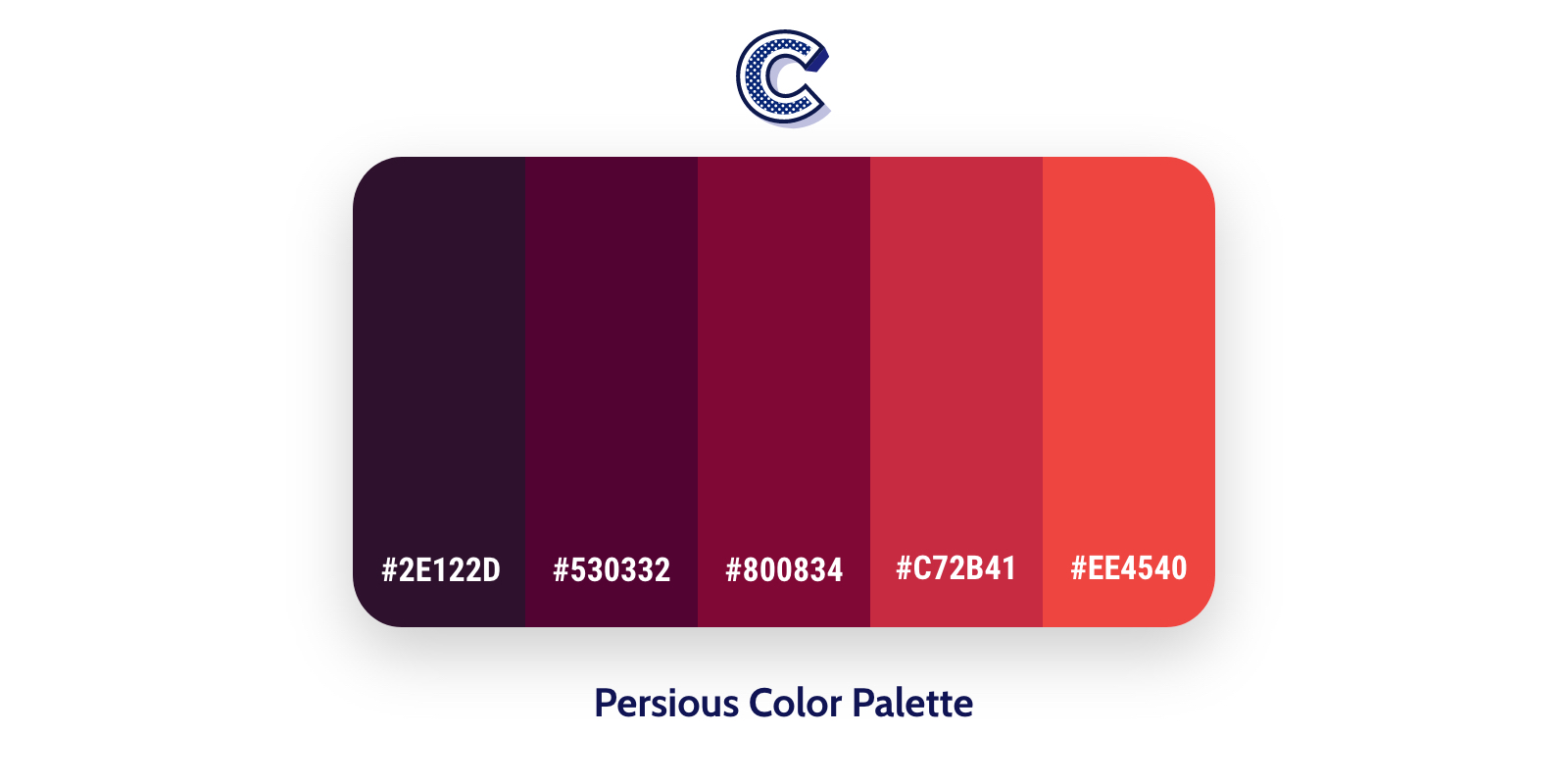 the featured image of persious color palette