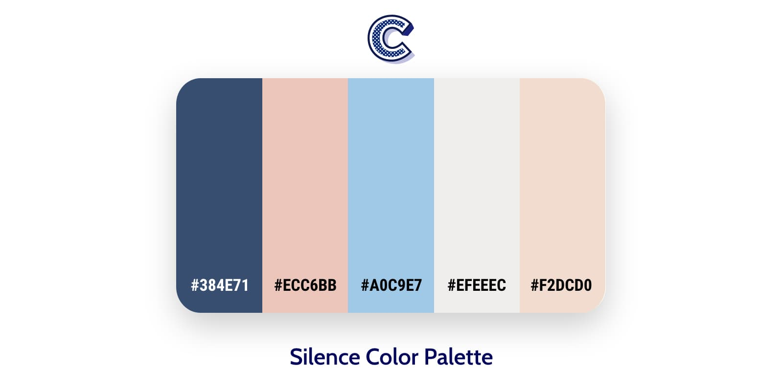 the featured image of silence color palette