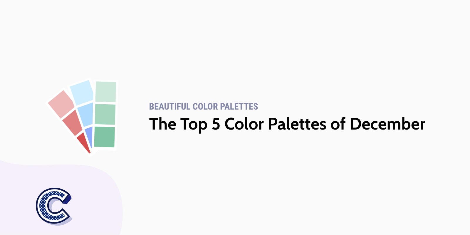 the featured image of the top five color palettes of december