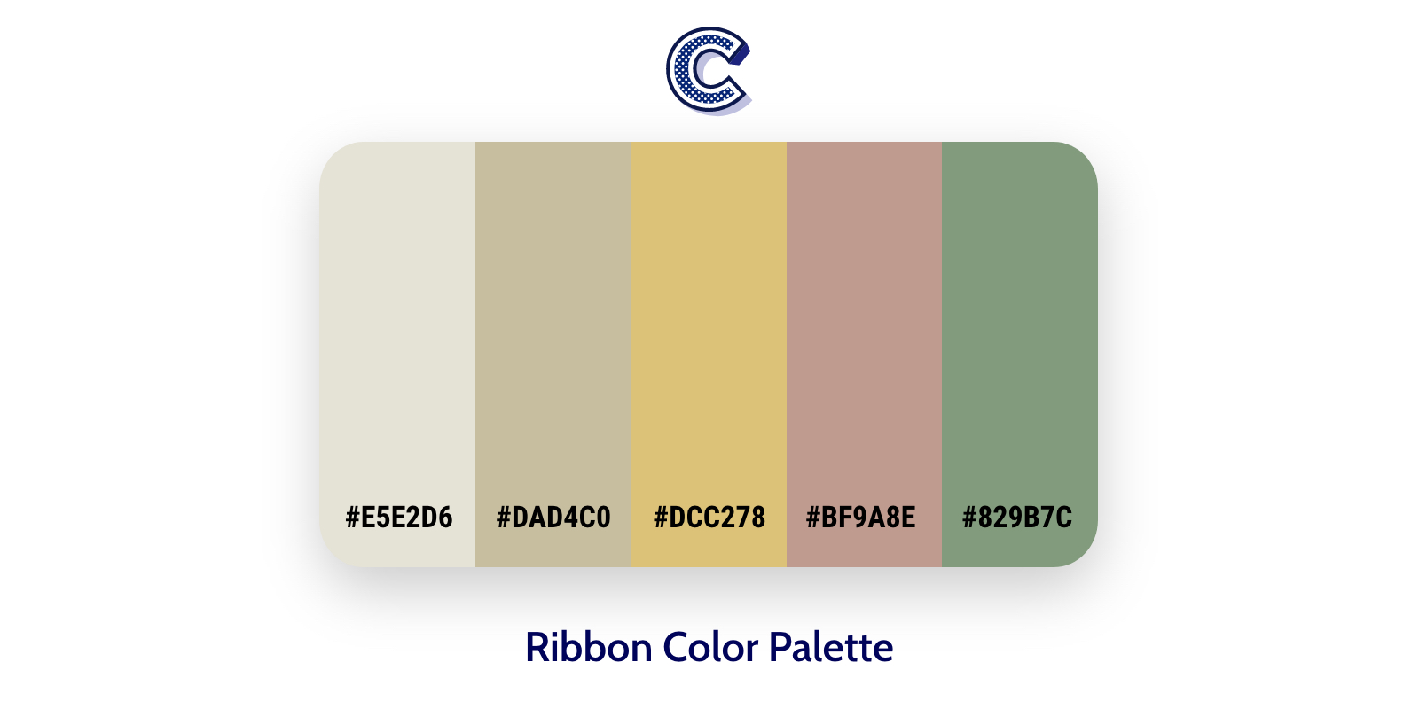 the featured image of ribbon color palette