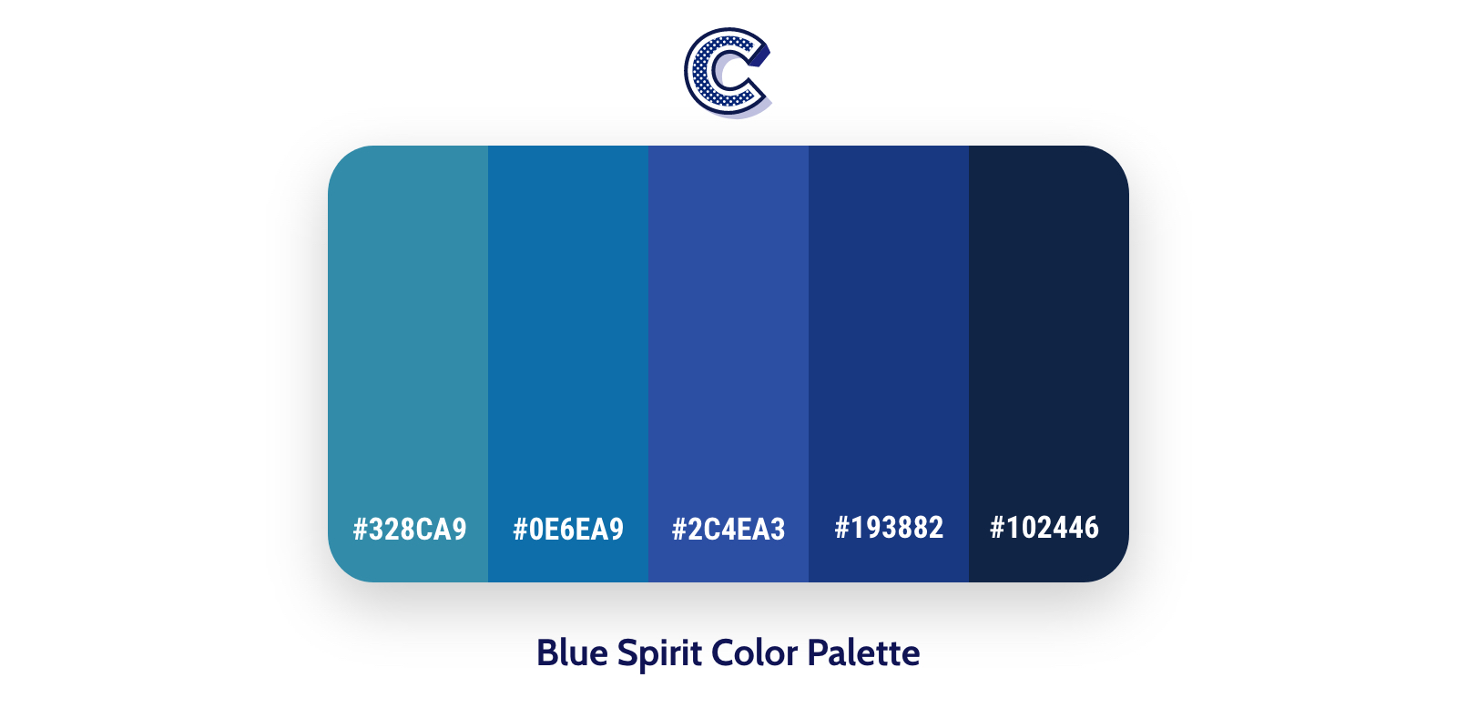 the featured image of blue spirit color palette