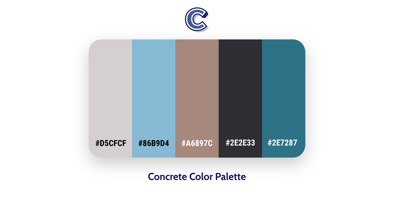 the featured image of concrete color palette