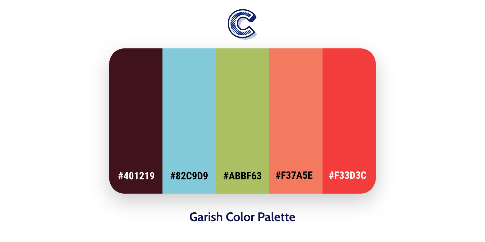 The featured image of garish color palette