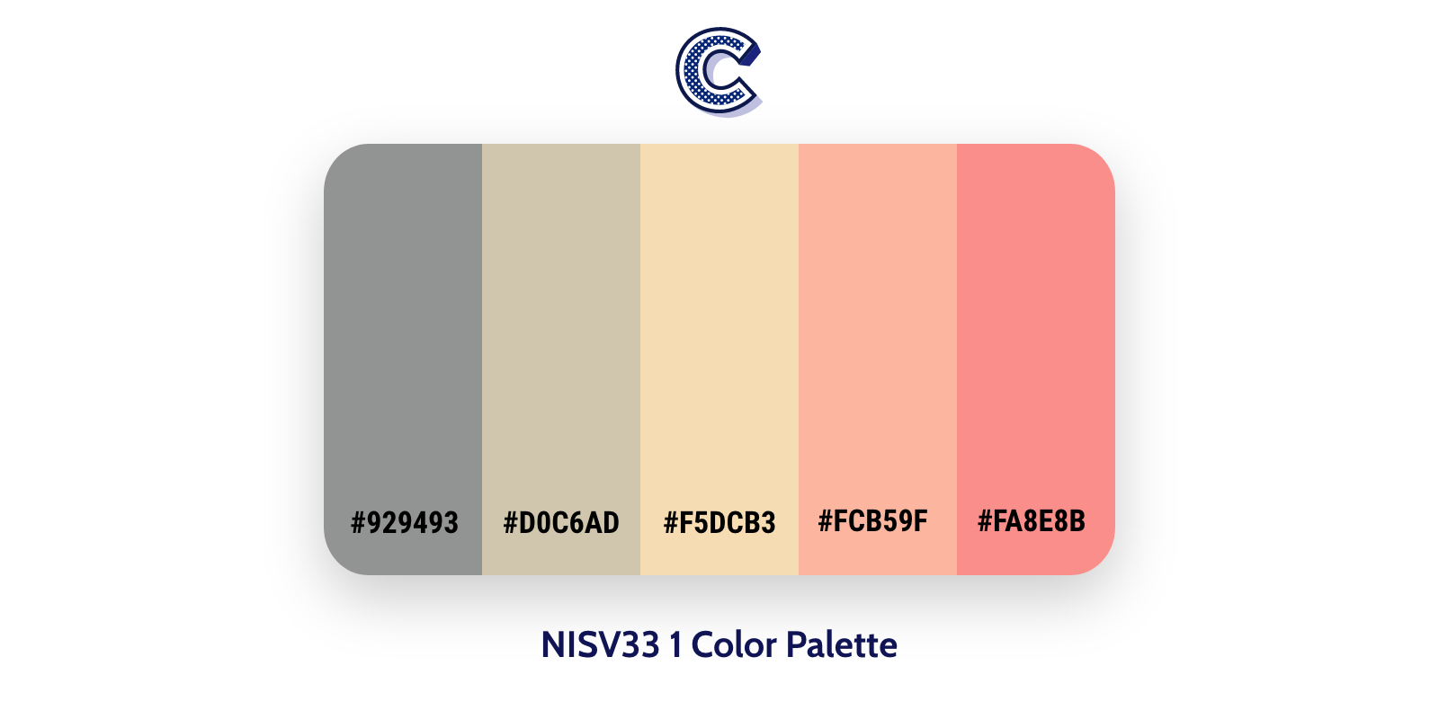 the featured image of NISV33 1 color palette