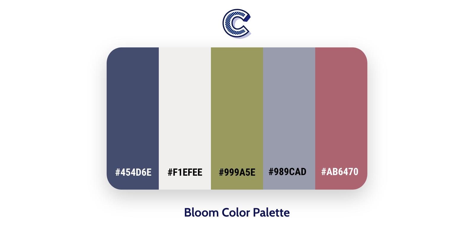 the featured of bloom color palette
