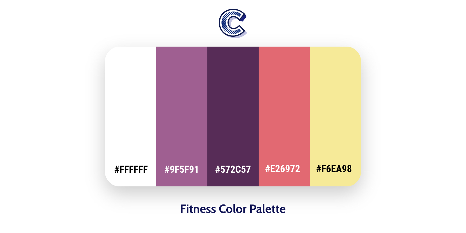 the featured of fitness color palette