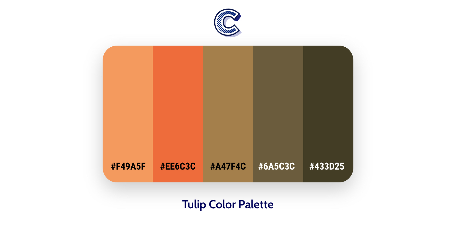 the featured image of tulip color palette