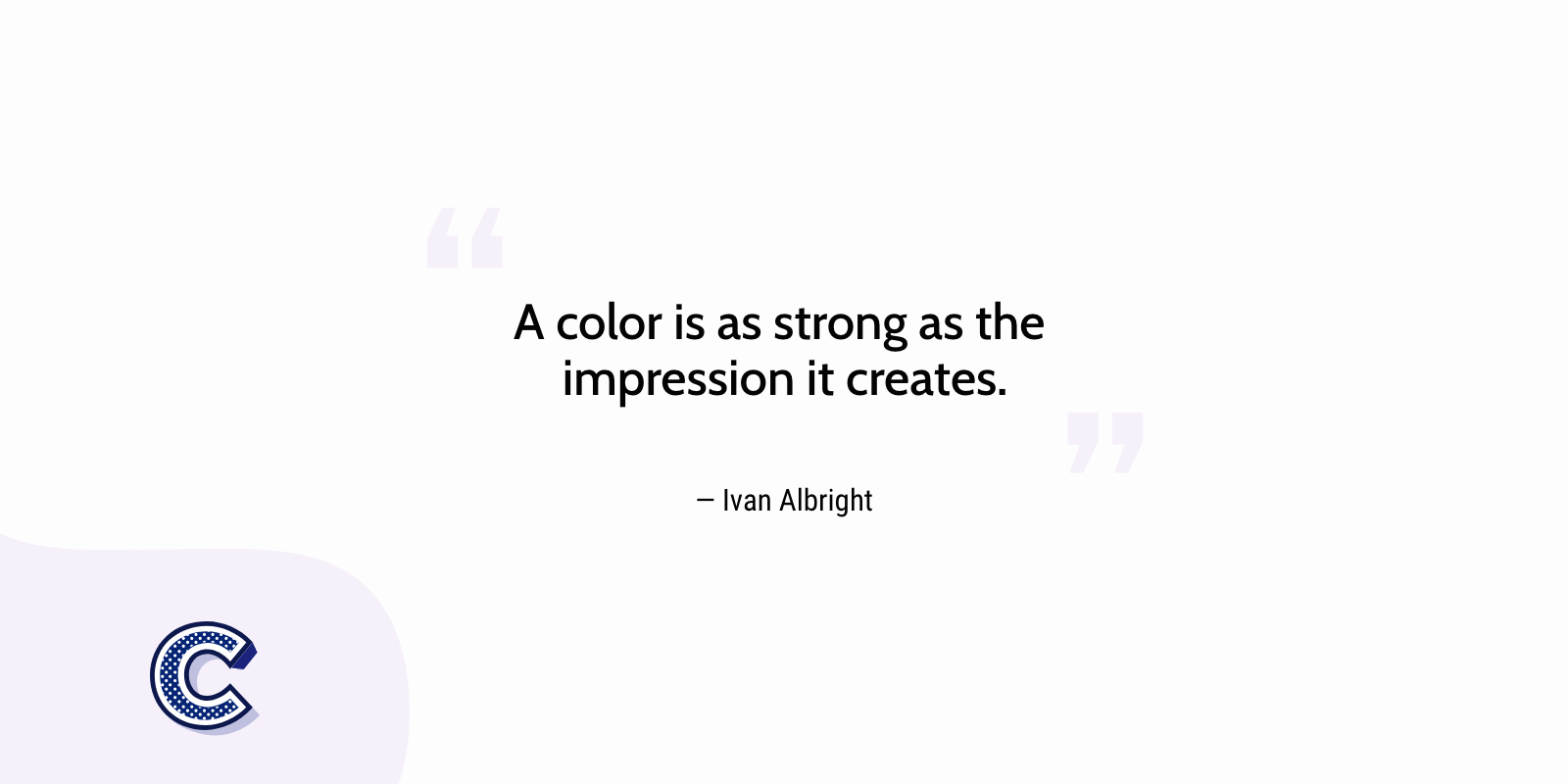the featured image of A color is as strong as the impression it creates