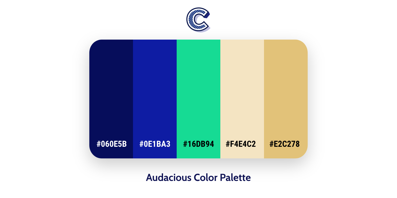 the featured of audacious color palette