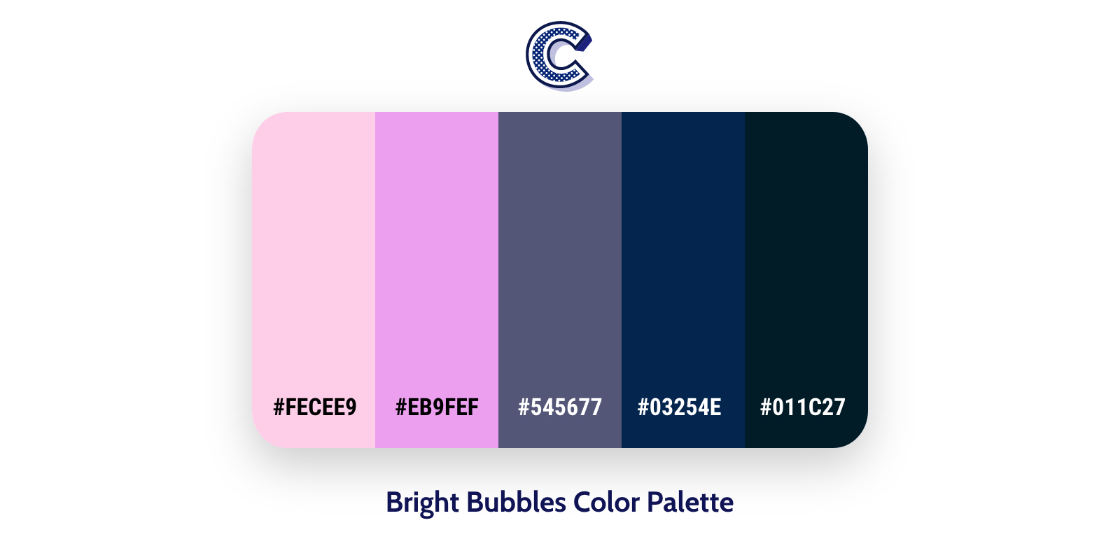 the featured of bright bubbles color palette