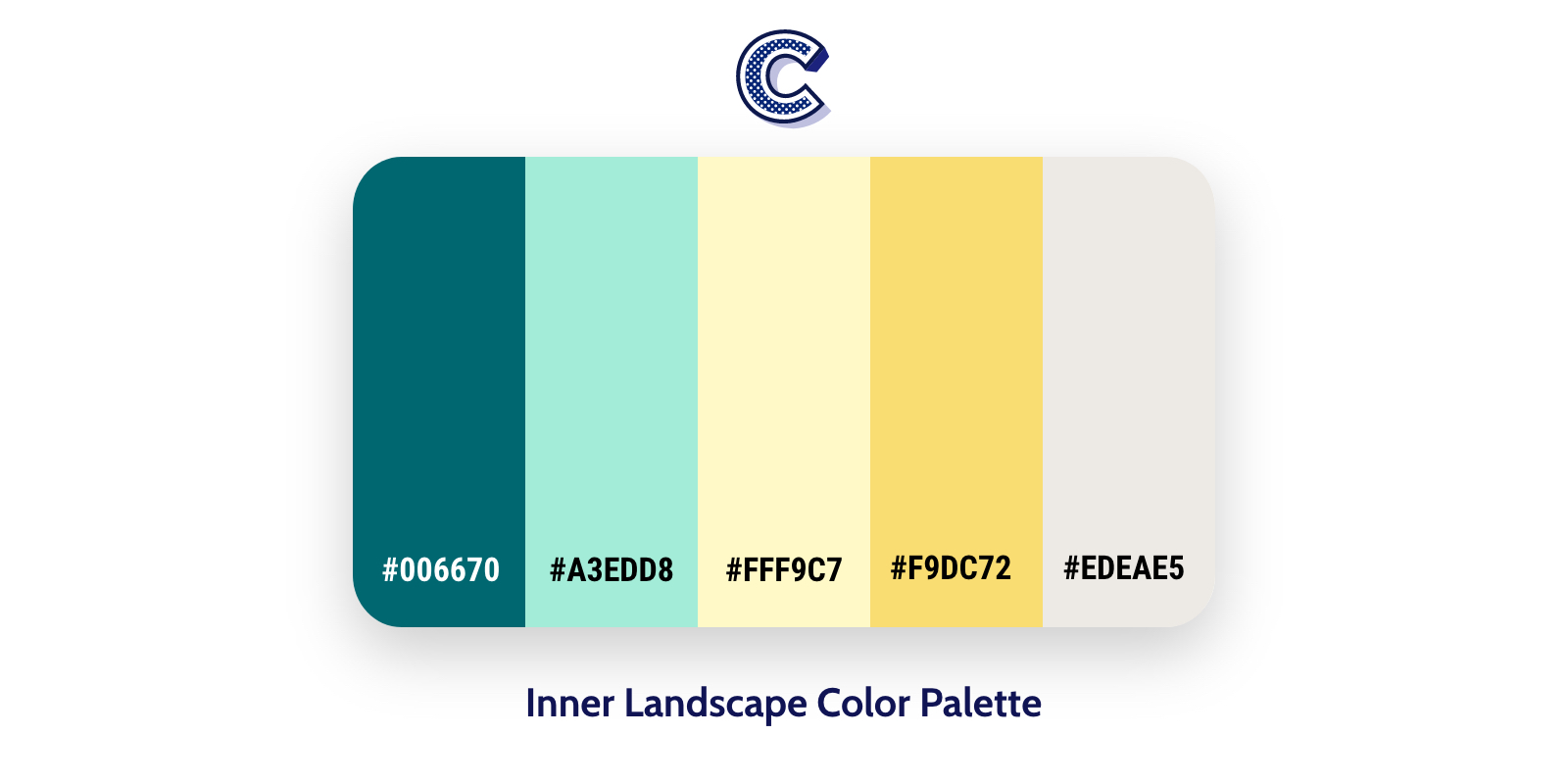 the featured image of inner landscape color palette