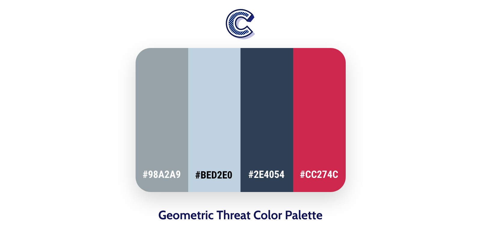 teh featured image of geometric threat color palette
