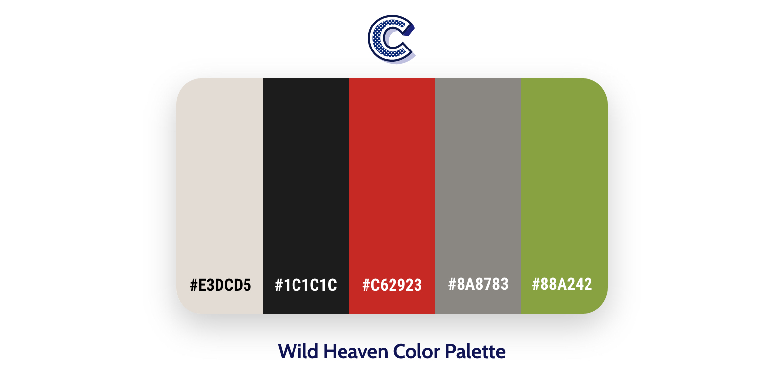 the featured image of wild heaven color palette