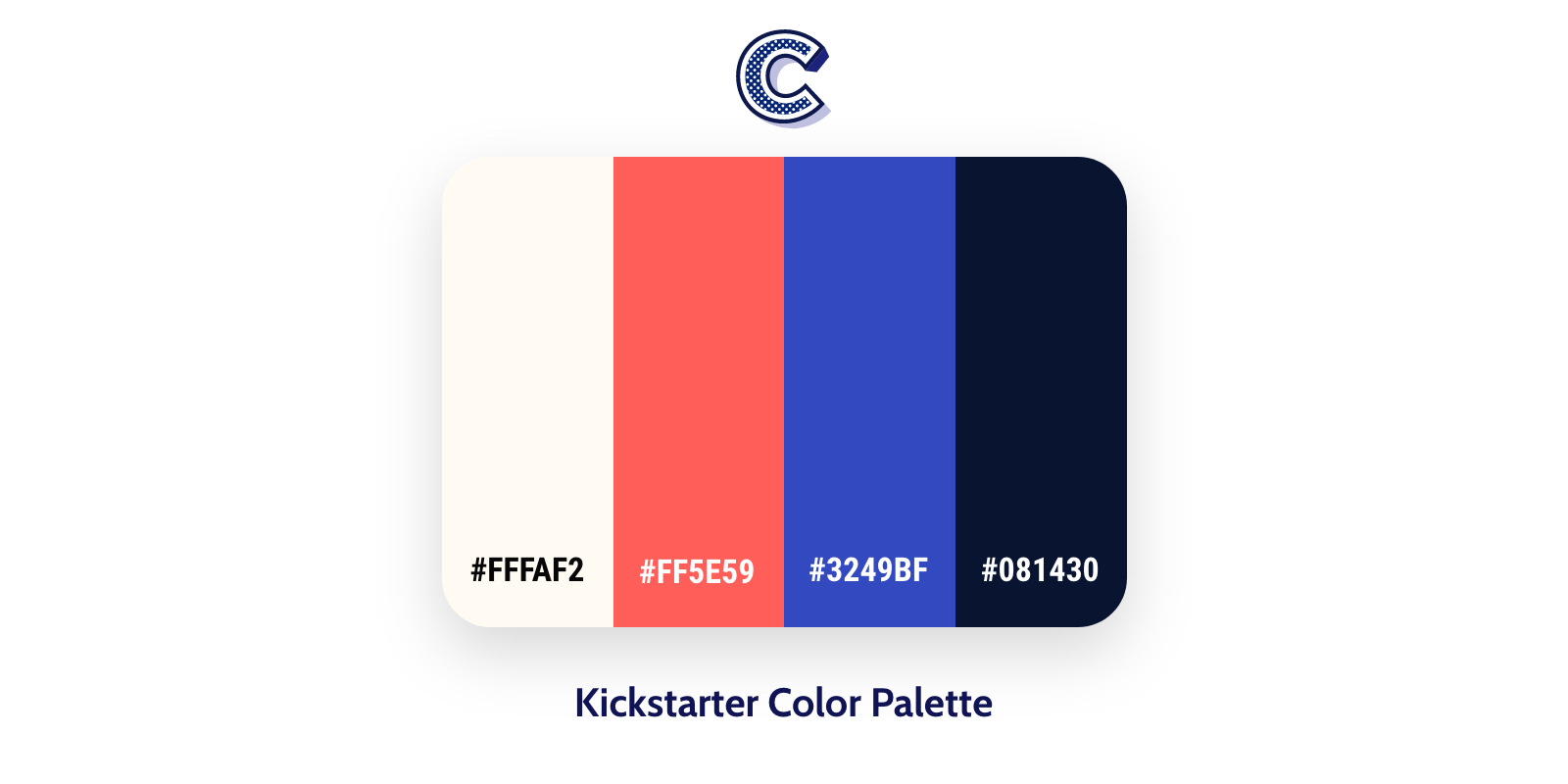 the featured image of kickstarter color palette