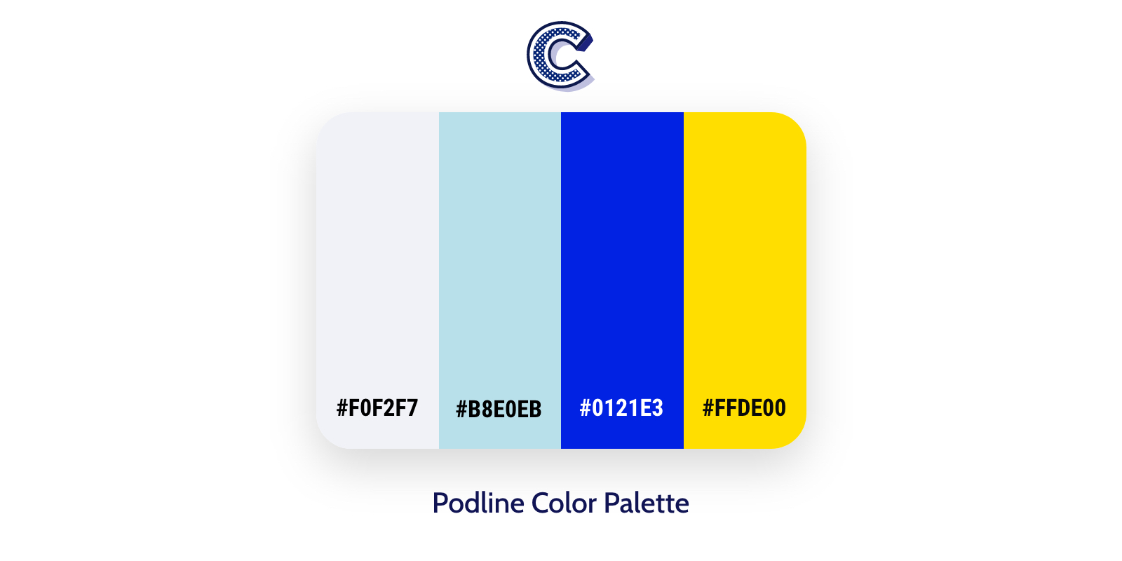 the featured image of podline color palette
