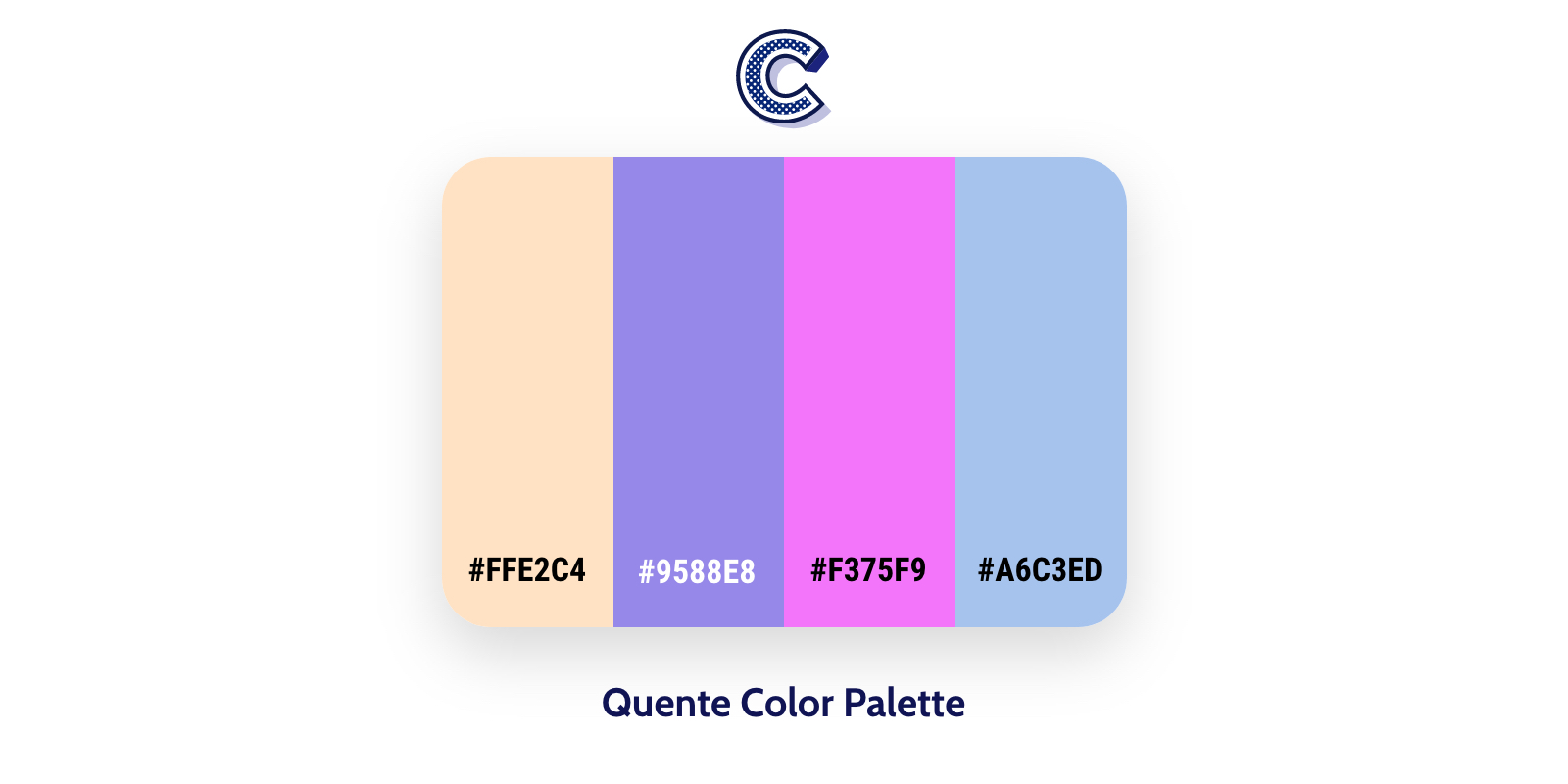 The featured image of quente color palette