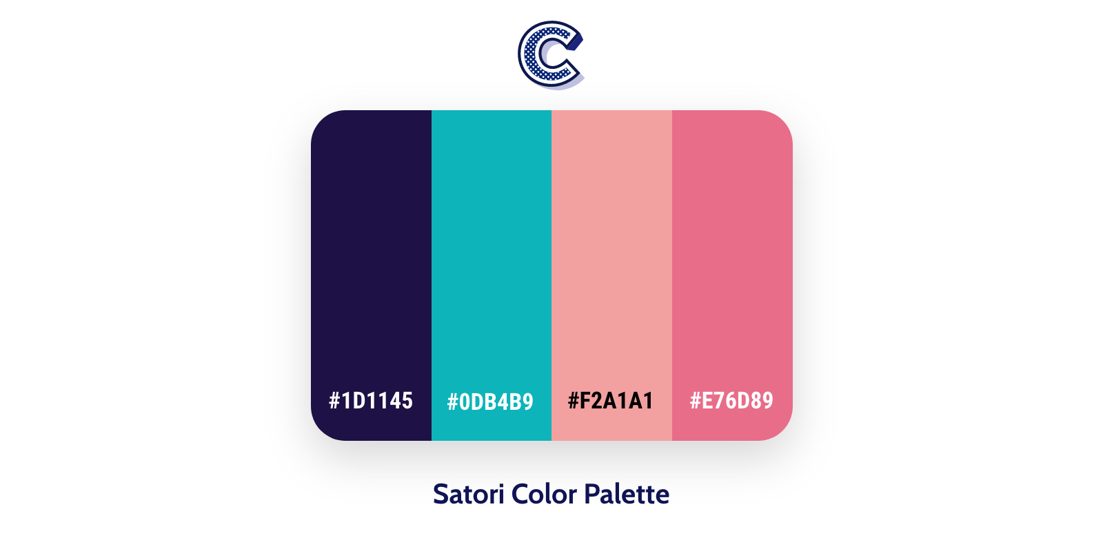 the featured image of satori color palette