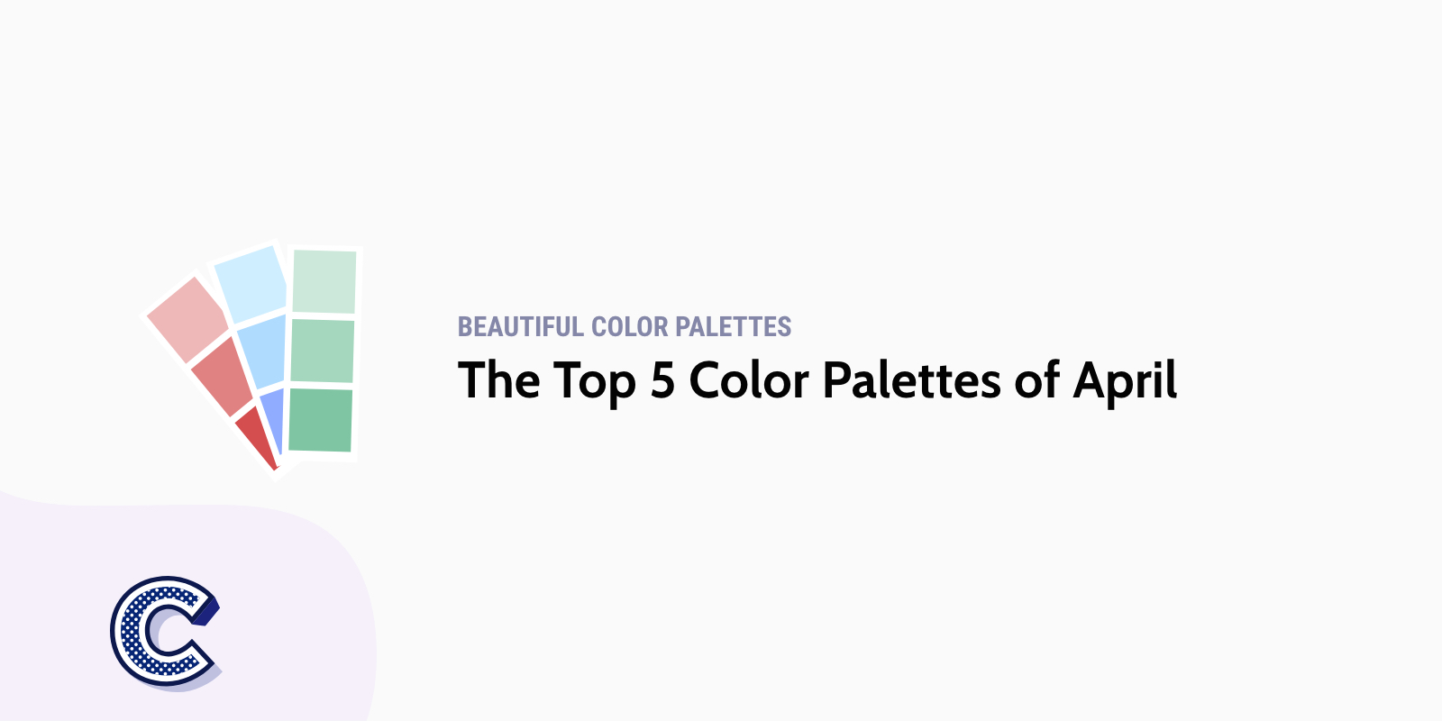 the featured image of top five color palettes of April
