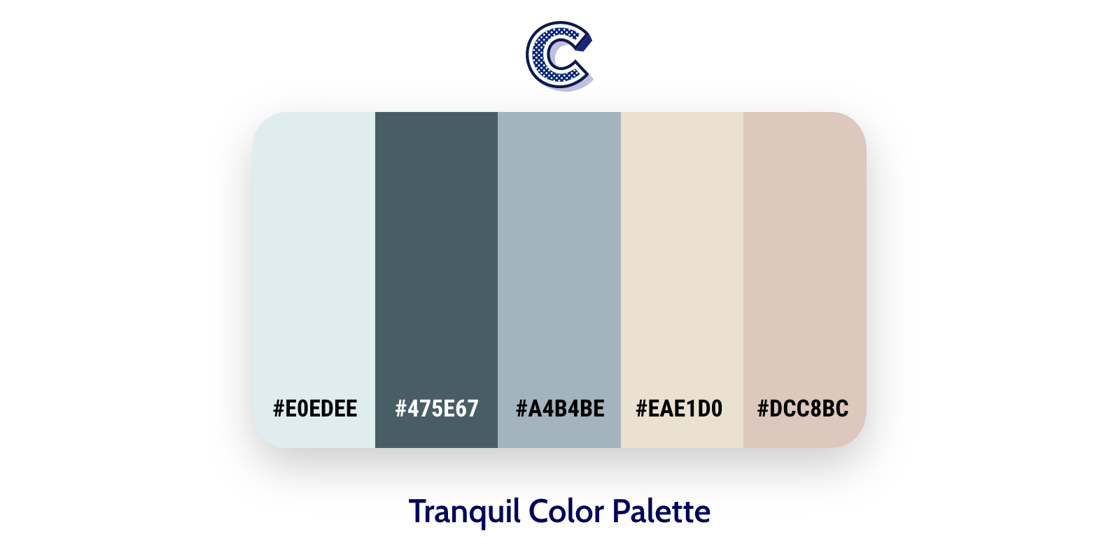 the featured image of Tranquilord color palette