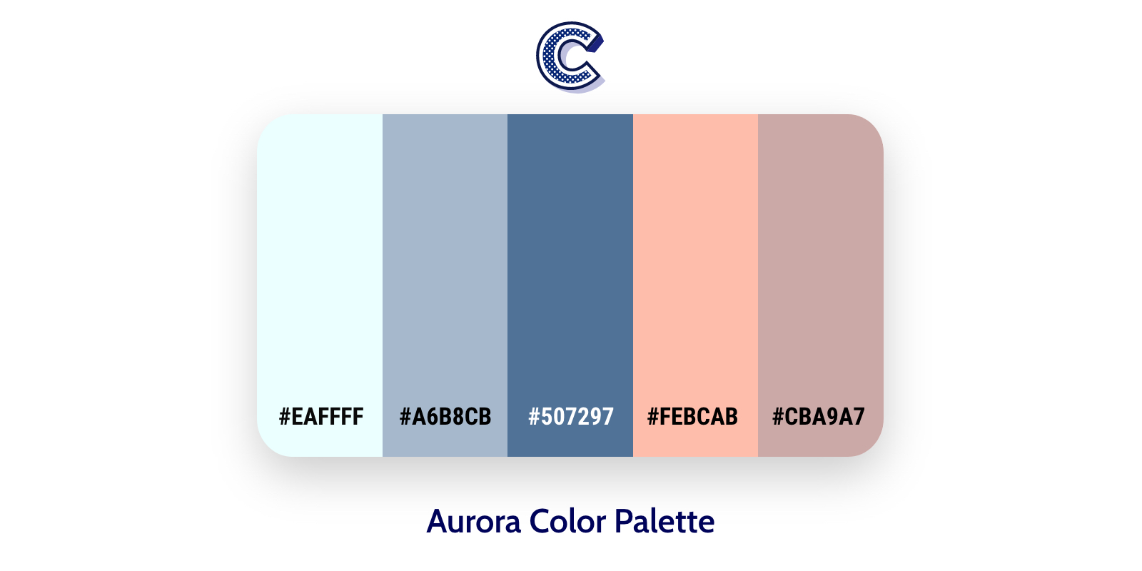 the feautured image fo alioha color palette