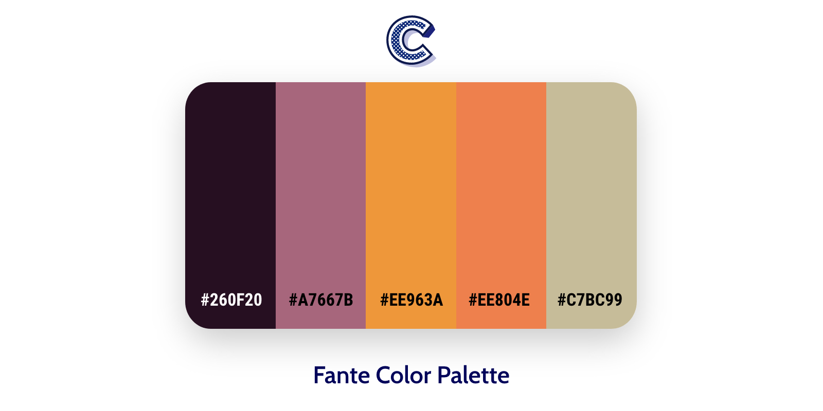 the featured image of fante color palette