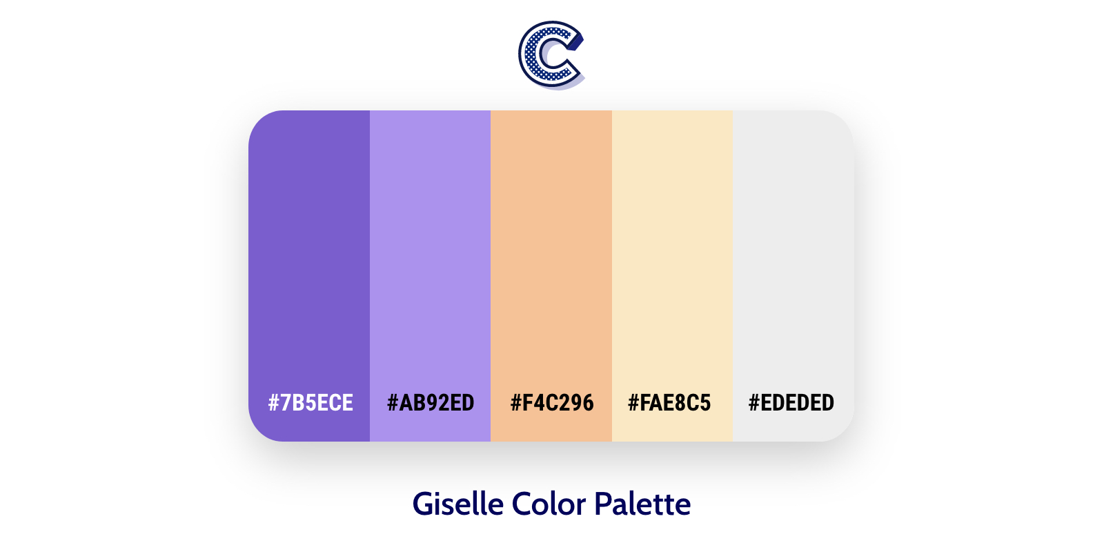 the featured image of giselle color palette