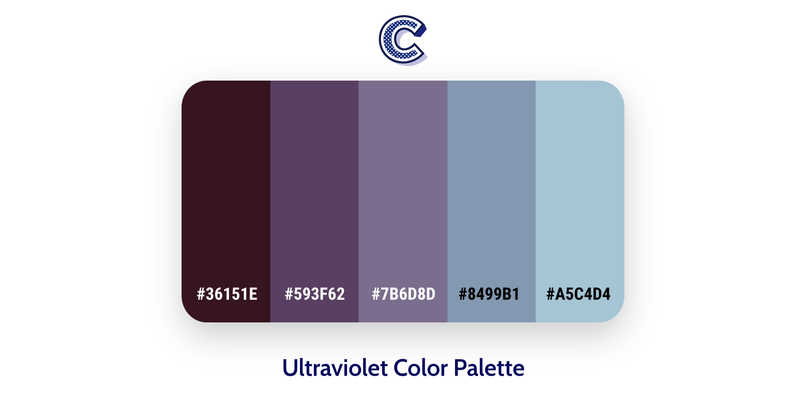 the featured image of ultraviolet color palette