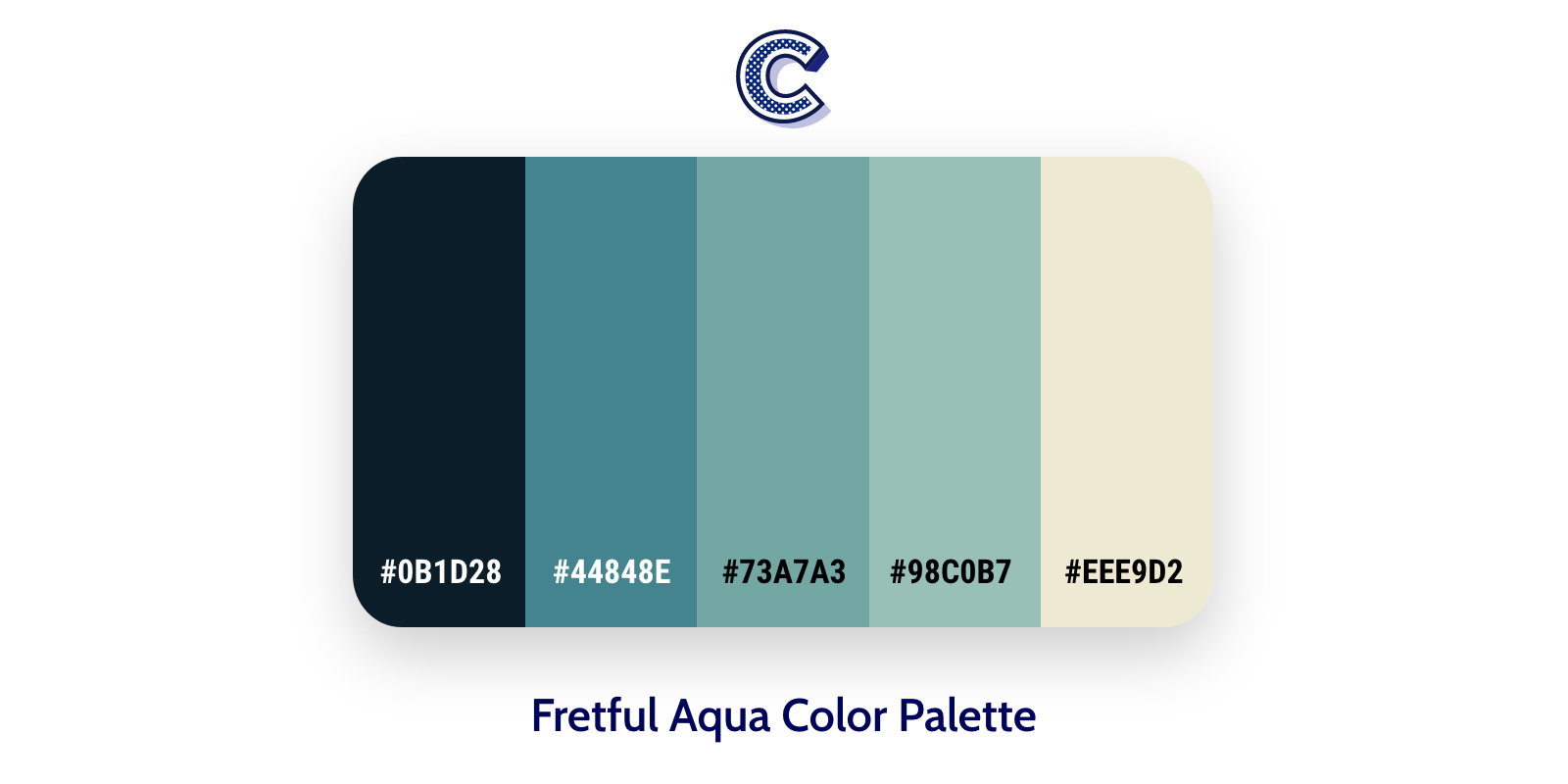 the featured image of Fretful Aqua color palette