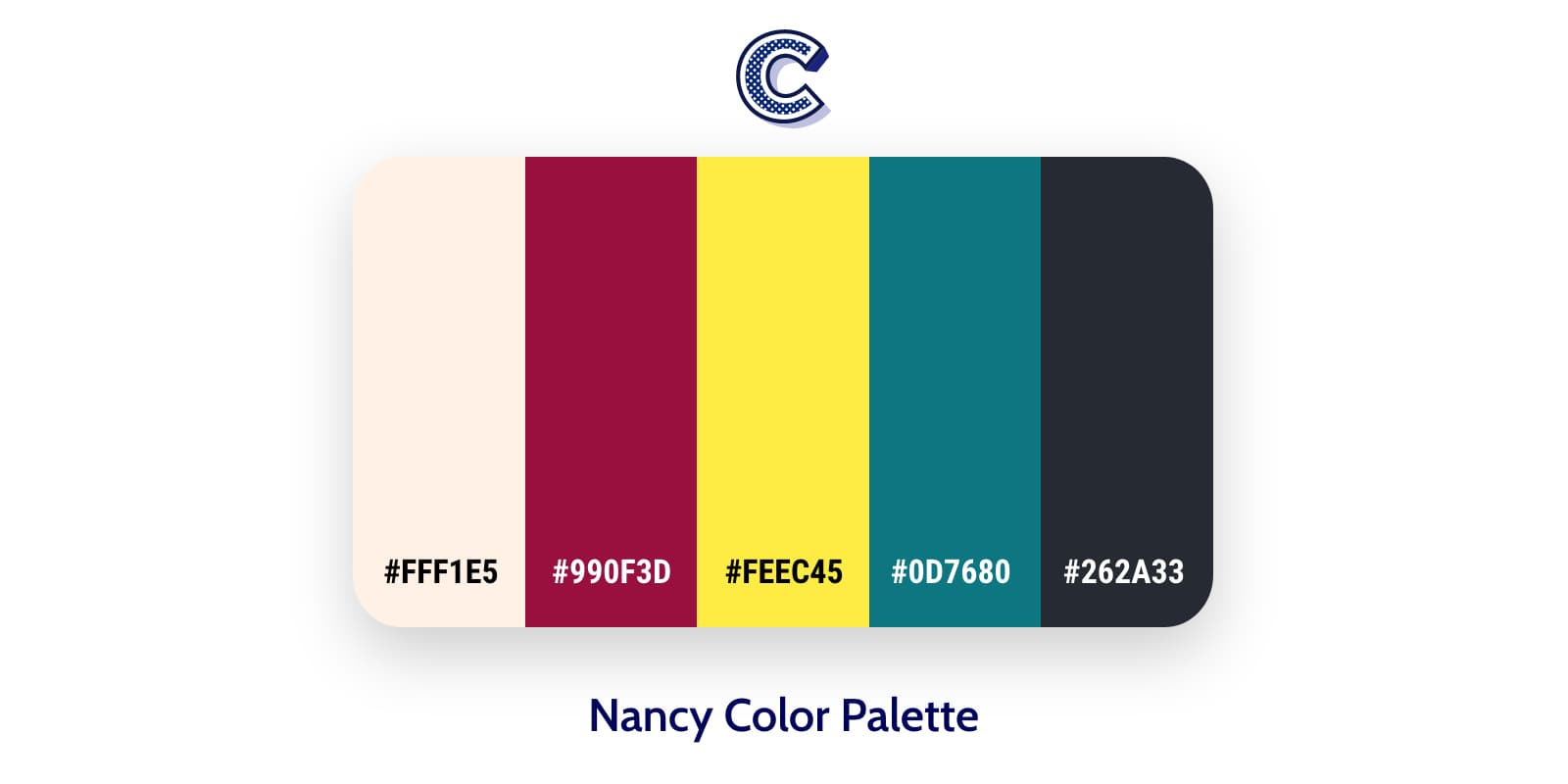 the featured image of nancy color palette