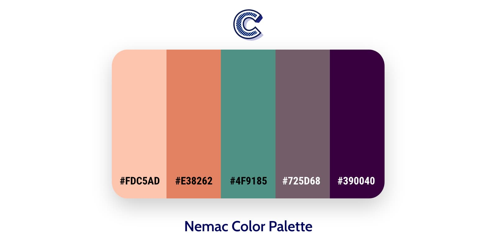 the featured image of nemac color palette