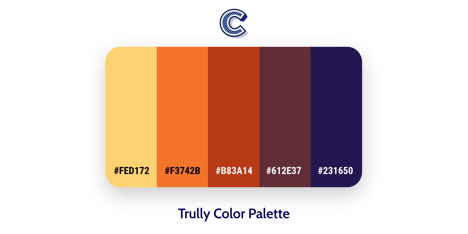 the featured image of trully color palette