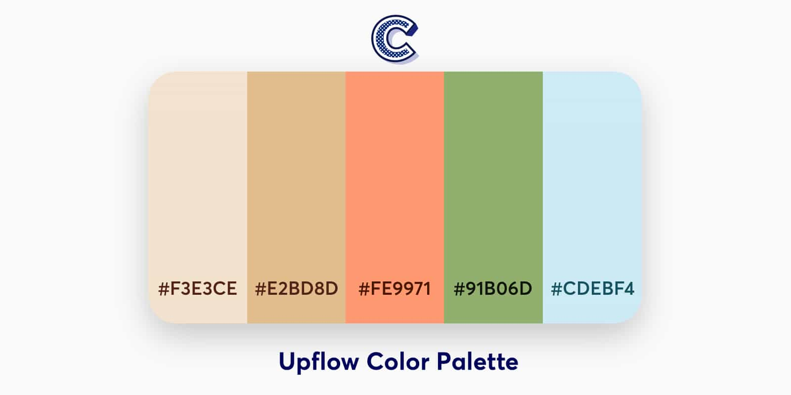 the featured image of upflow color palette