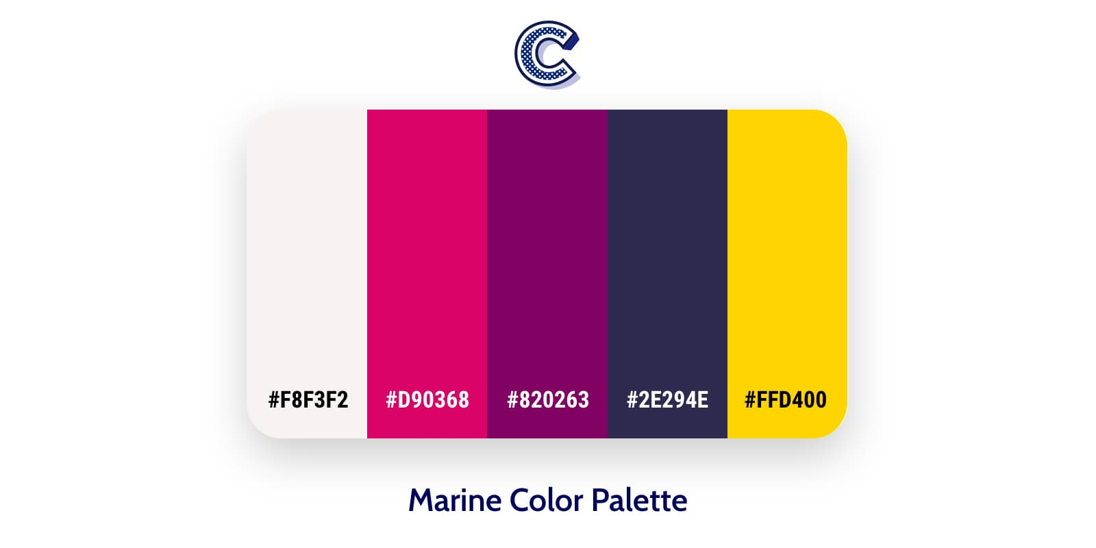 the featured image of marine color palette