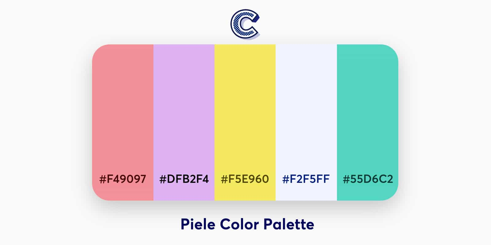 the featured image of piele color palette