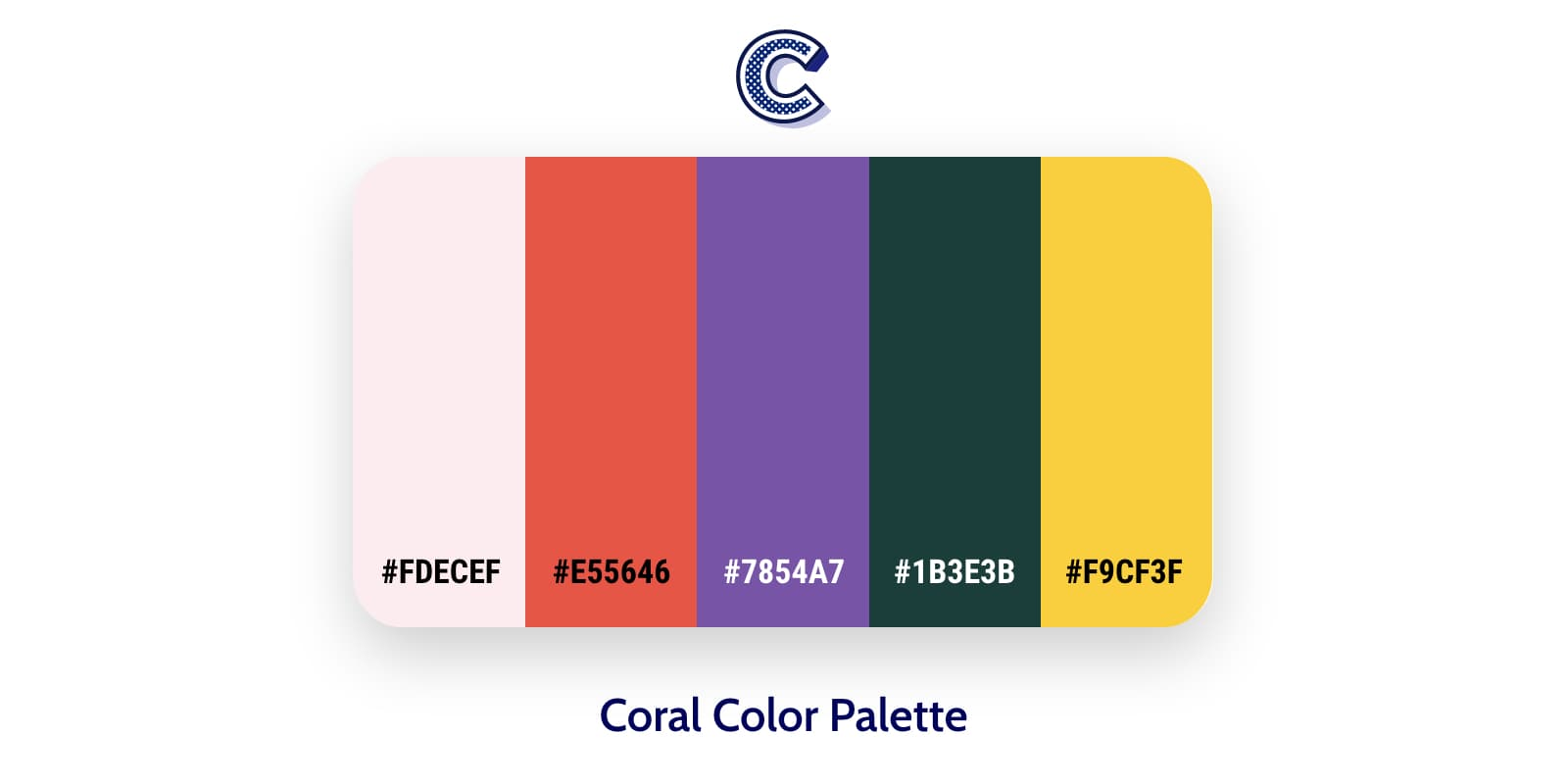the featured image of coral color palette