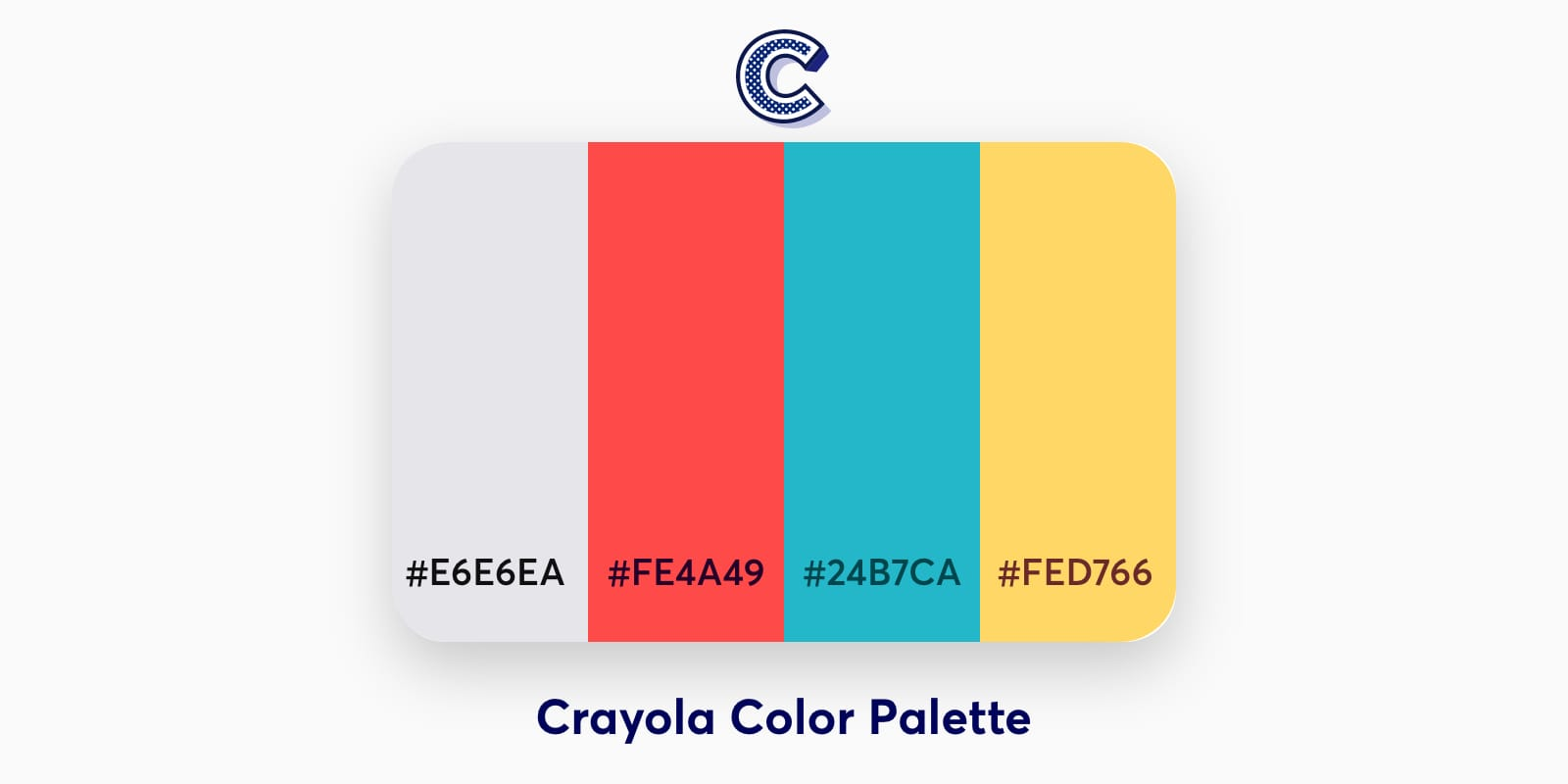 the featured image of crayola color palette