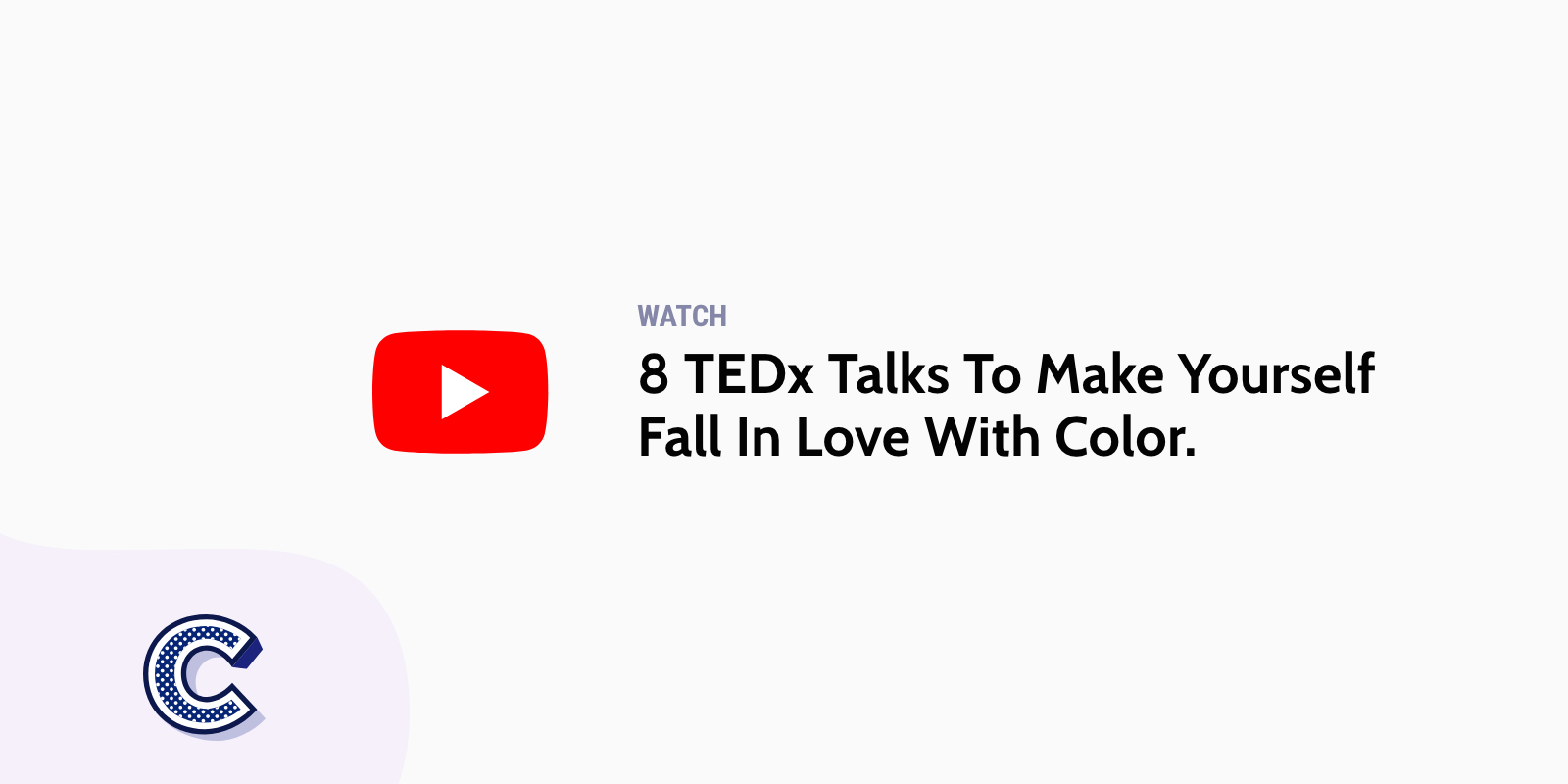 the featured image of the eight tedx talks-with color
