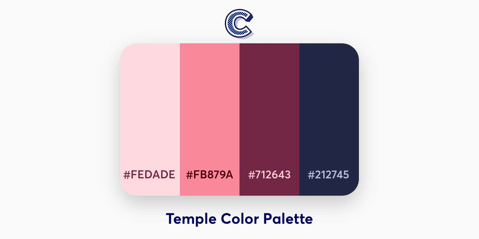 the featured image of temple color palette