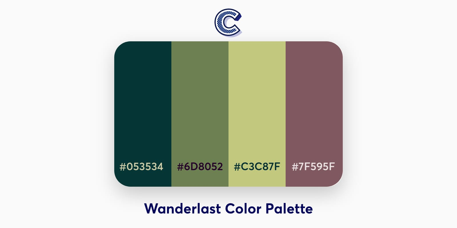 the featured image of wanderlast color palette