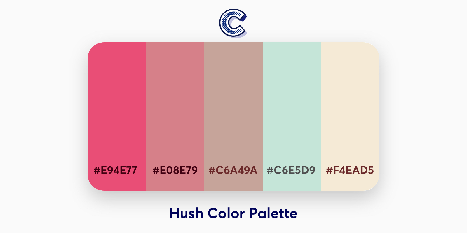 the featured image of hush color palette