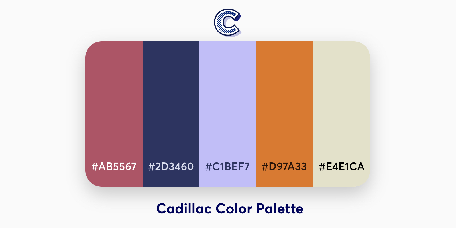 the featured image of cadillac color palette