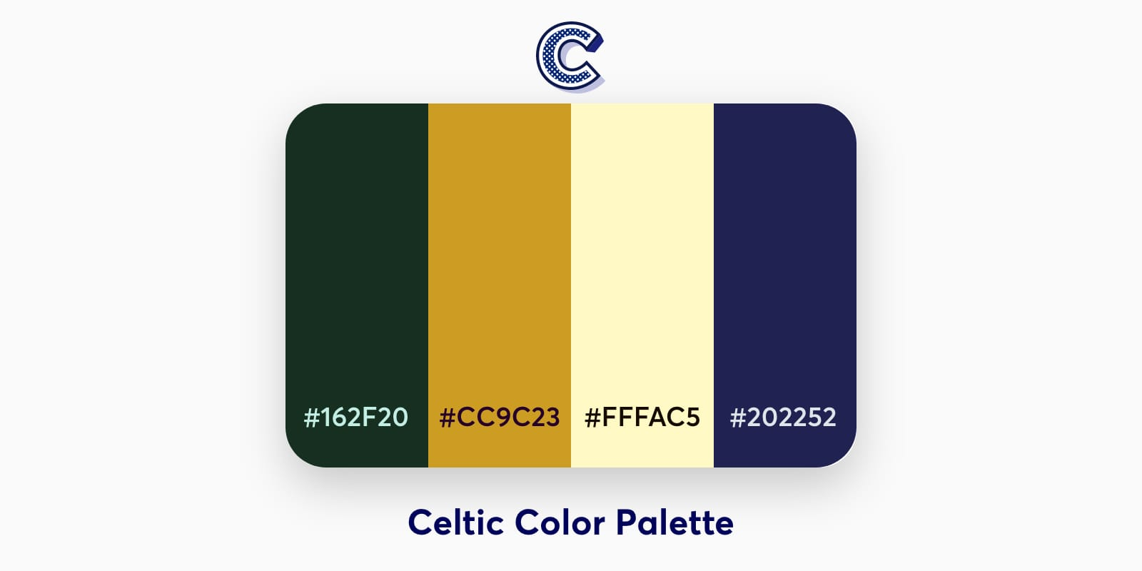 the featured image of celtic color palette