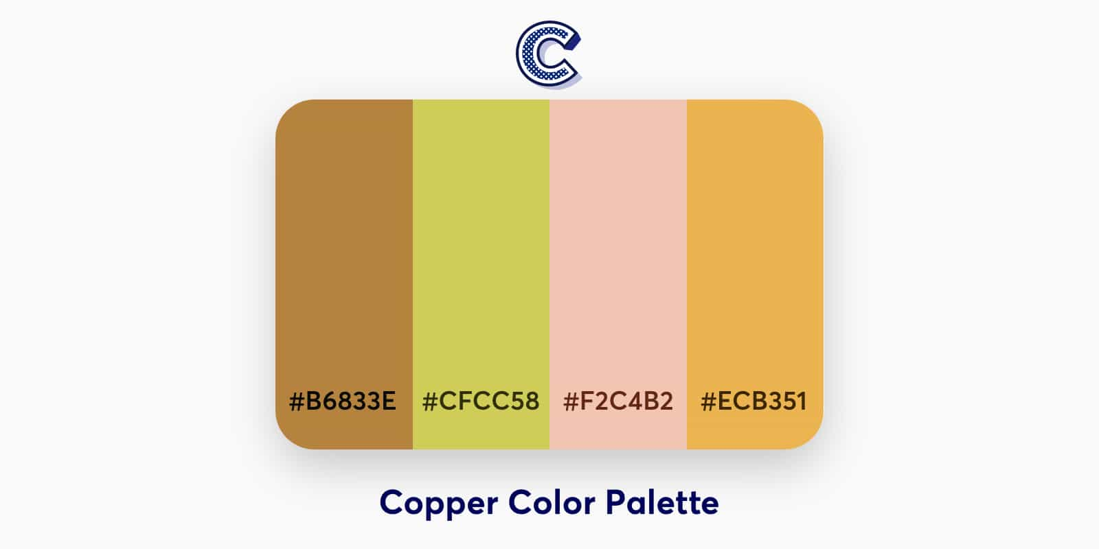 the featured image of copper color palette