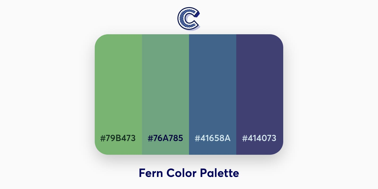 the featured image of fern color palette