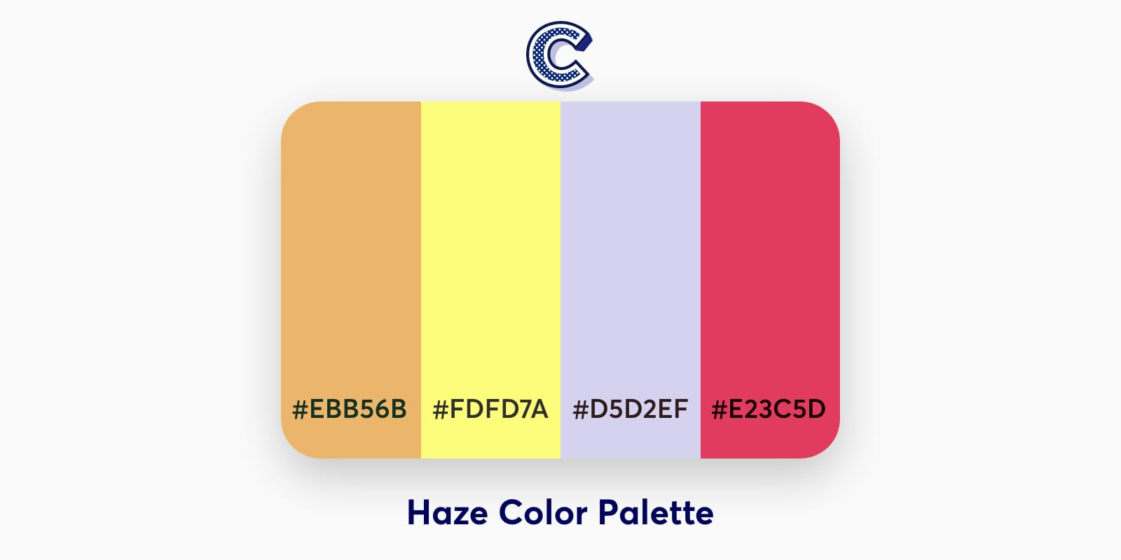 the featured image of haze color palette