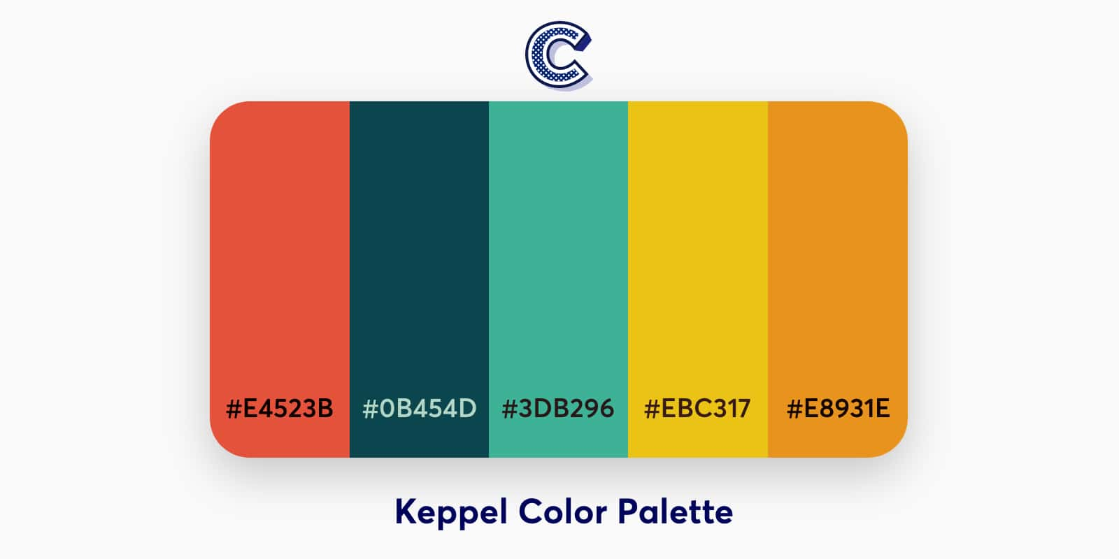 the featured image of keppel color palette