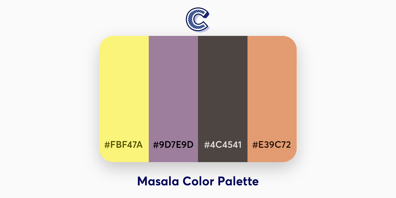 the featured image of masala color palette