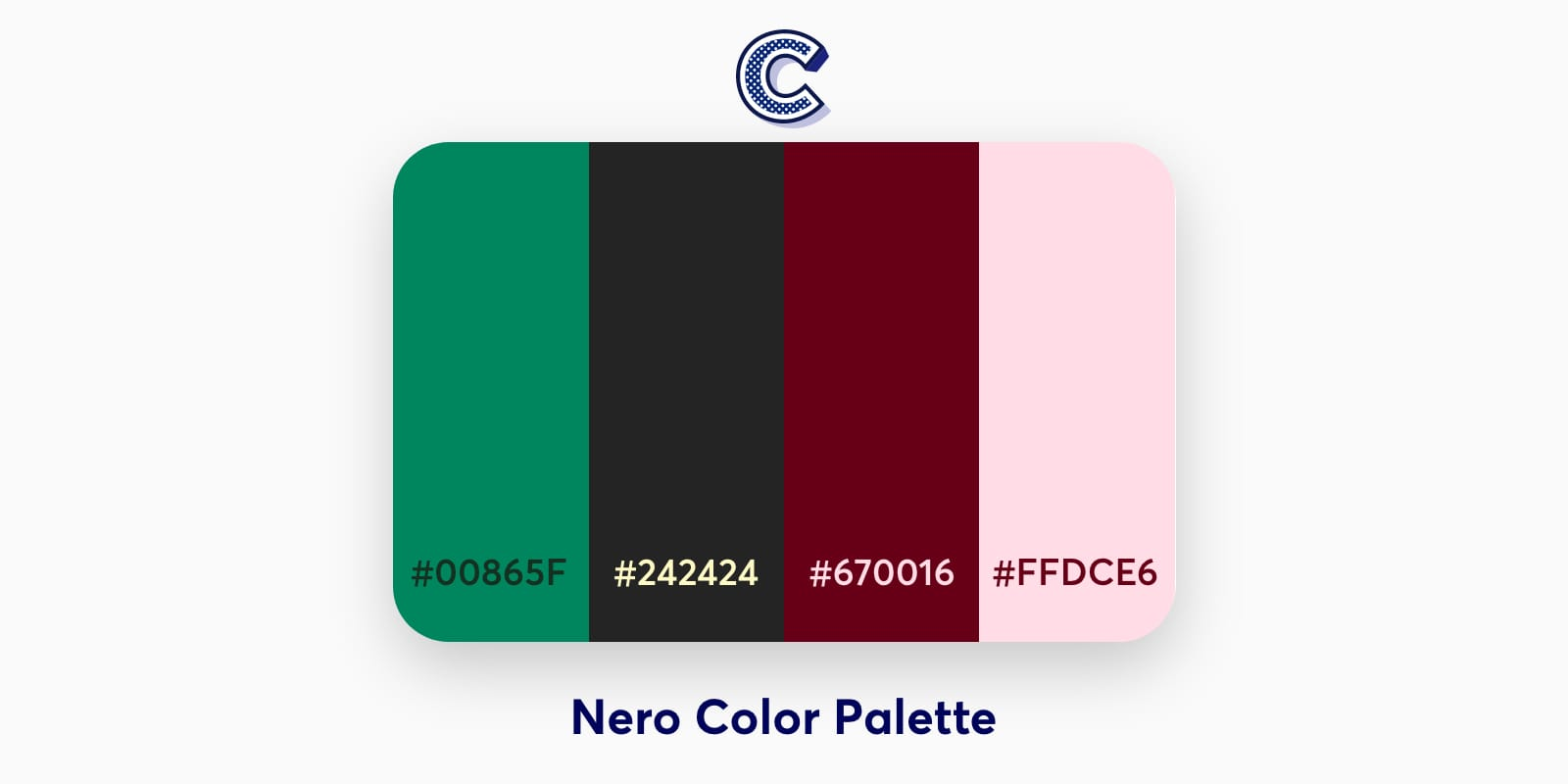 the featured image of nero color palette